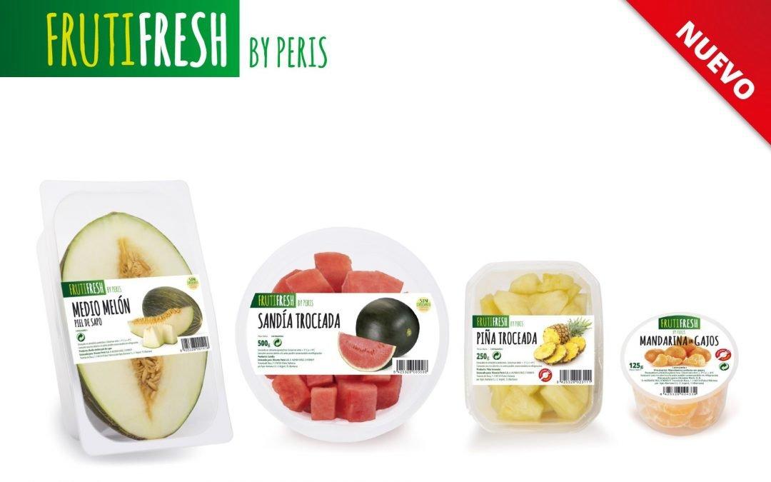 Fruta fresca cortada y envasada