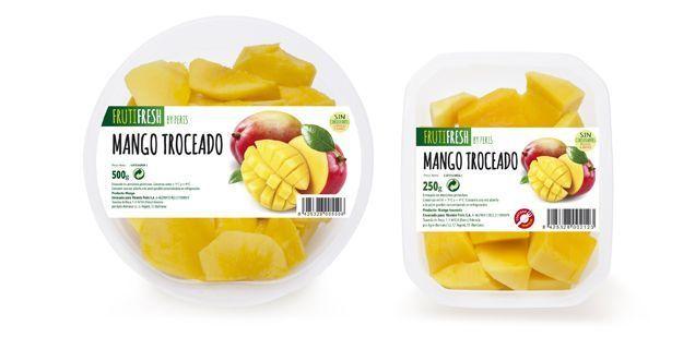 Fruta cortada fresca y envasada