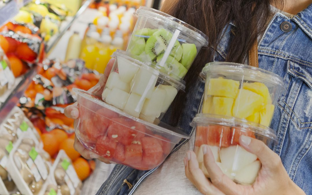Fruta cortada envasada supermercado